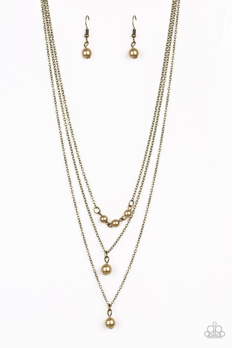 High Heels and Hustle - Brass Necklace