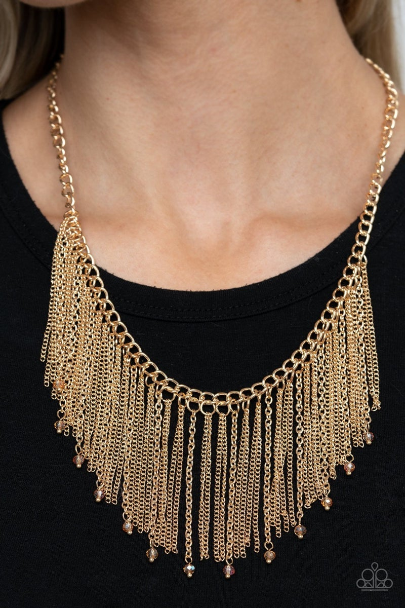 Cue The Fireworks - Gold Necklace