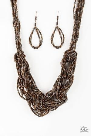 City Catwalk - Copper Seed Bead Necklace