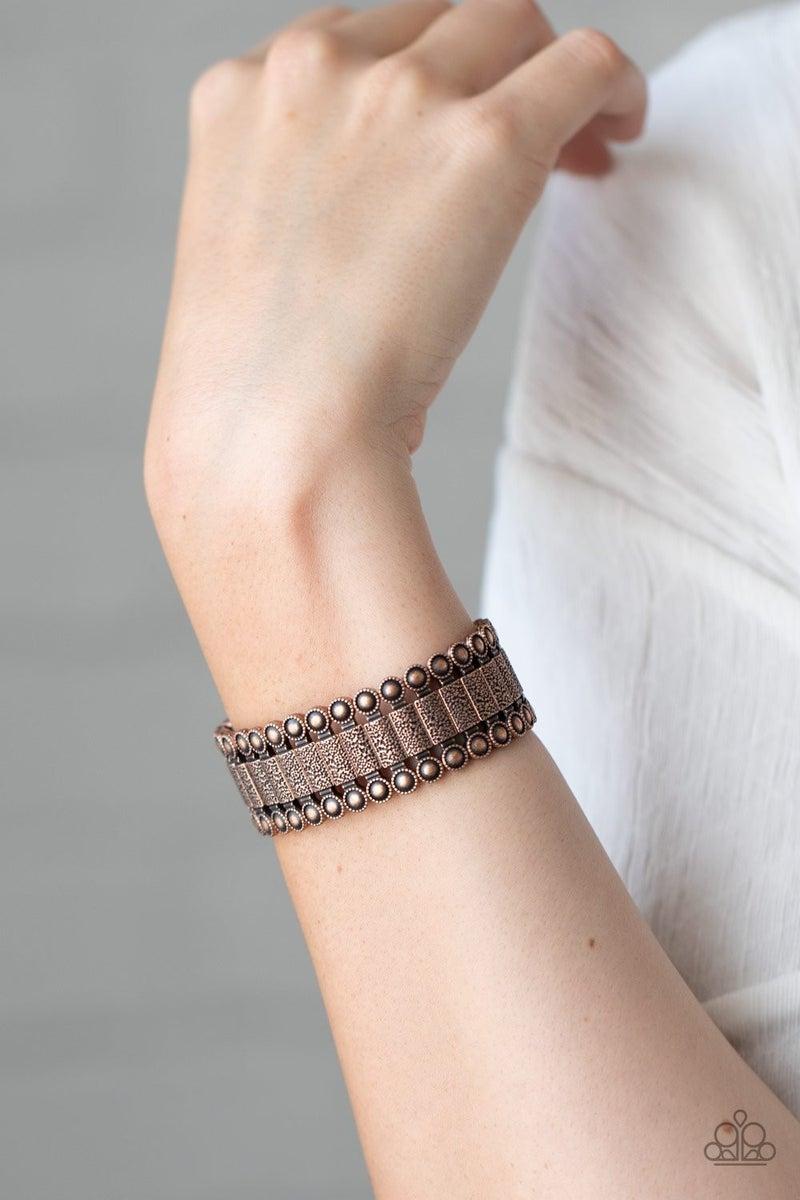 Rustic Rhythm - Copper Stretchy Bracelet