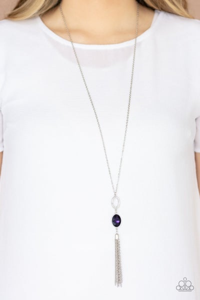 Unstoppable Glamour - Purple Necklace