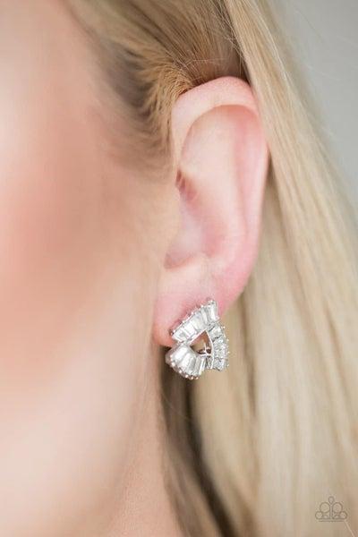 Renegade Shimmer - White Earrings