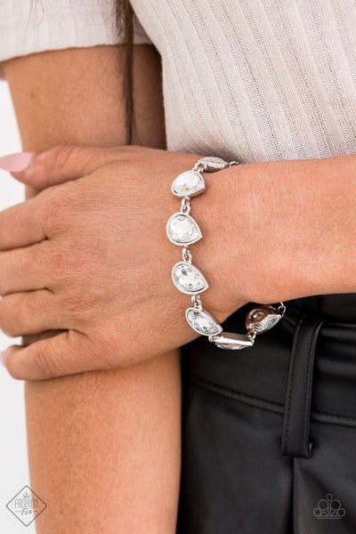 Free Rein - White Clasp Bracelet - July 2020 Fashion Fix