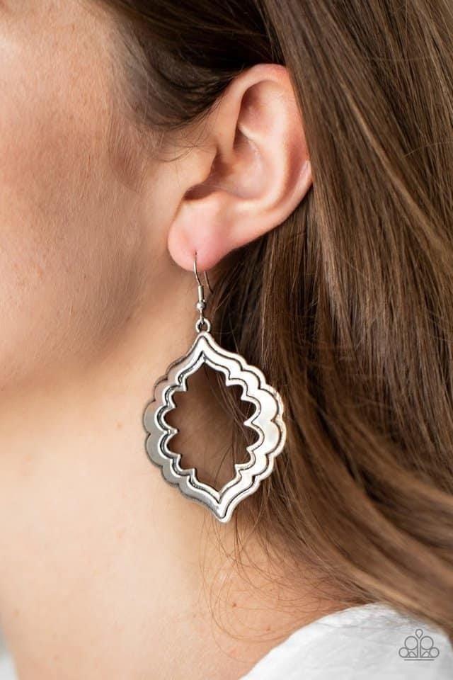 Taj Mahal Majesty - Silver Earrings