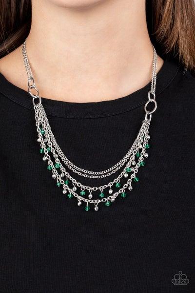 Financially Fabulous - Green Necklace