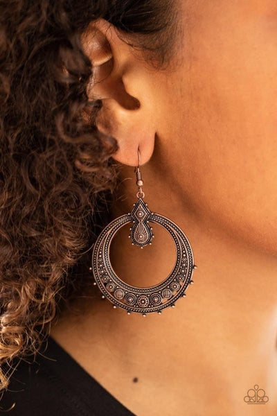 Solar Orbit - Copper Earrings