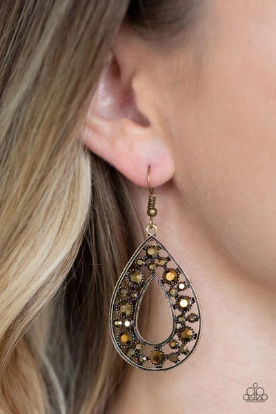 Midnight Magic - Brass Earrings