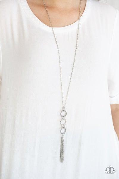 Diva in Diamonds - Silver Necklace