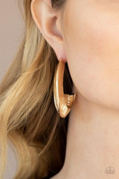 I Double FLARE You - Gold Hoop Earrings