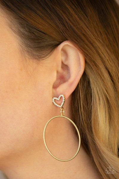 Love Your Curves - Gold Earrings