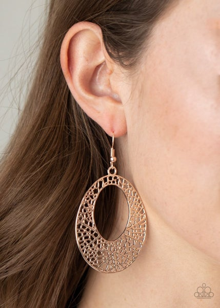 Serenely Shattered - Rose Gold Earrings