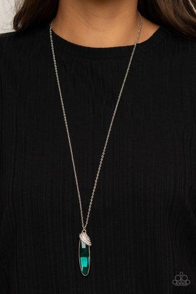 Spontaneous Sparkle - Green Necklace