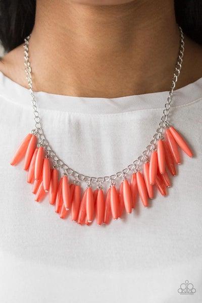 Full of Flavor - Orange Necklace