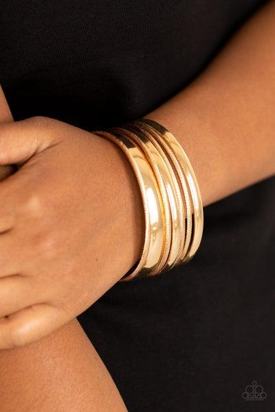 Sahara Shimmer - Gold Bangles