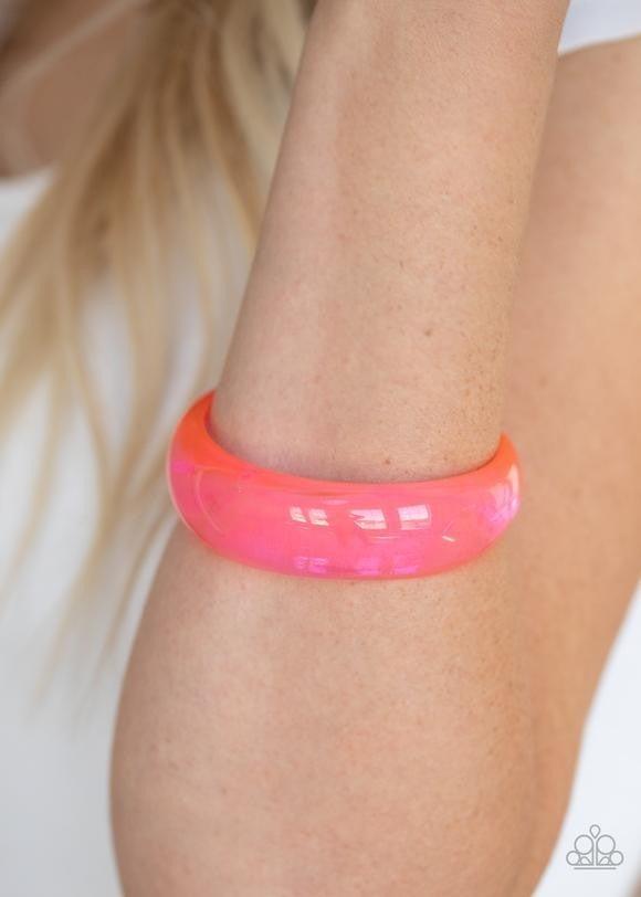 Major Material Girl - Pink Acrylic Bangles