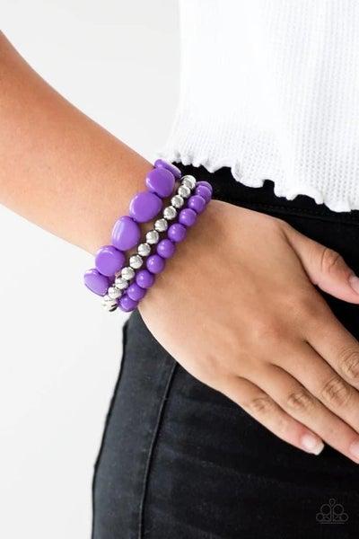 Color Venture - Purple Stretchy Bracelet