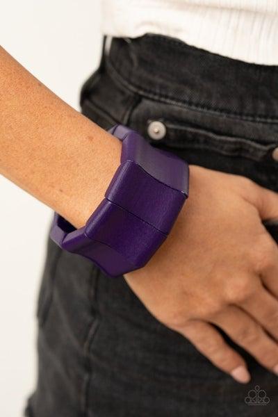 Caribbean Couture - Purple Wooden Bracelet