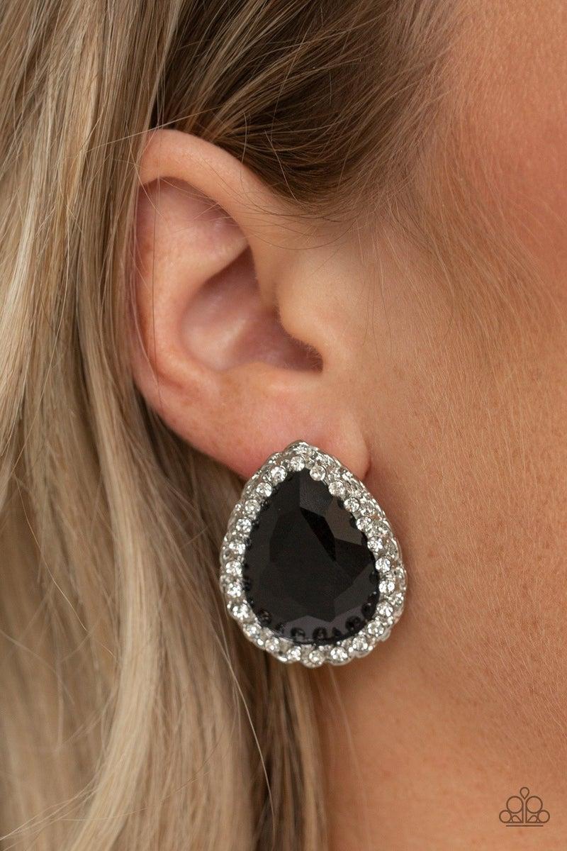Dare To Shine - Black Earrings