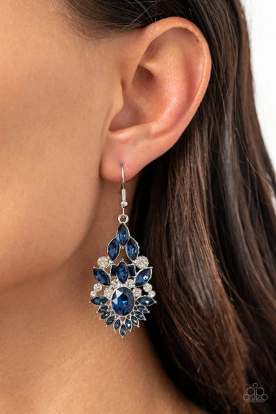 Ice Castle Couture - Blue Earrings