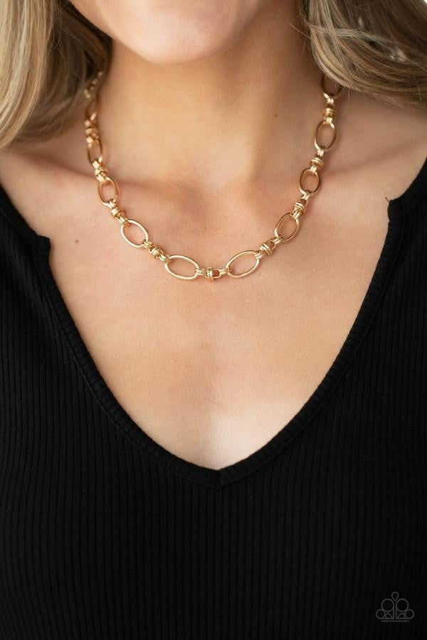 Defined Drama - Gold Necklace