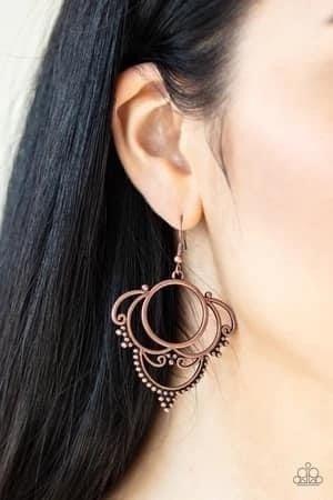 Metallic Macrame - Copper Earrings
