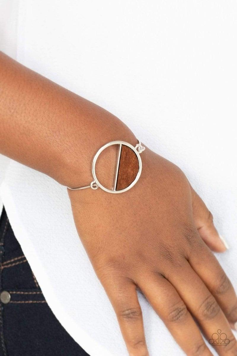 Timber Trade - Brown Hinged Bracelet