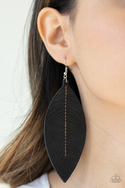 Naturally Beautiful - Black Earrings