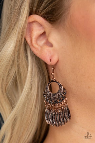 Country Chimes - Copper Earrings