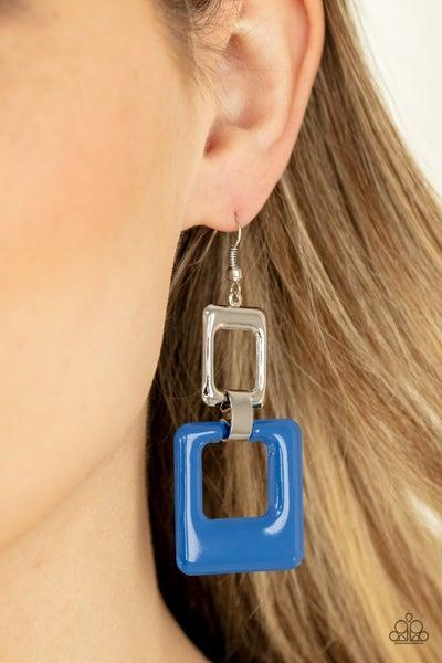Twice As Nice - Blue Earrings
