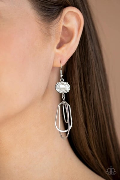 Drop-Dead Glamorous - White Earrings