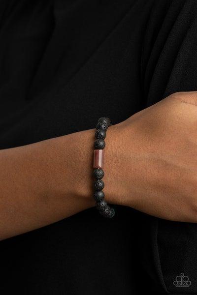 Earthy Energy - Multi Lava Bead Bracelet