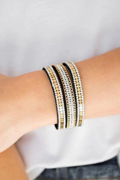 Fashion Fanatic - Gold Snap Wrap