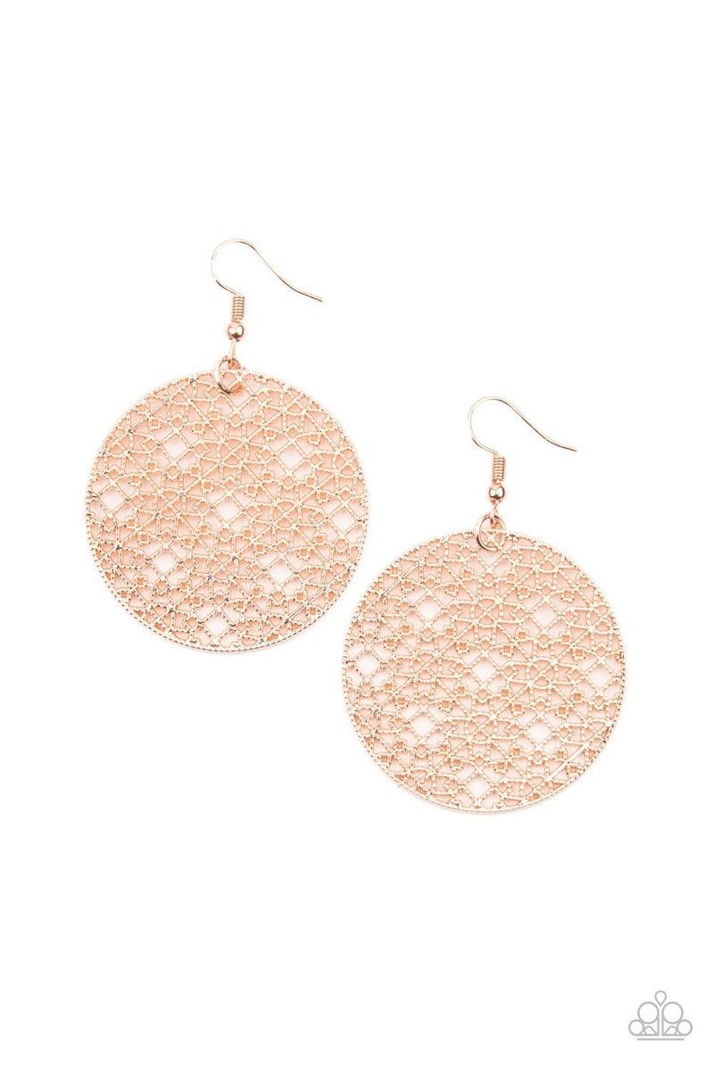 Metallic Mosaic - Rose Gold Earrings
