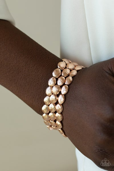 Basic Bliss - Rose Gold Stretchy Bracelet
