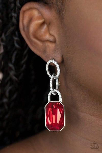 Superstar Status - Red Earrings