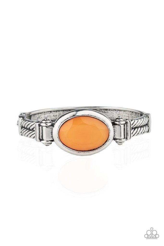Color Coordinated - Orange Hinged Bracelet