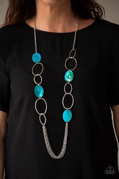 Kaleidoscope Coasts - Blue Necklace