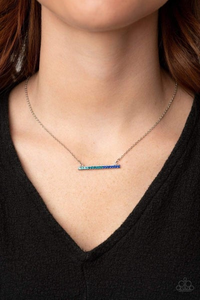Sparkly Spectrum - Blue Necklace