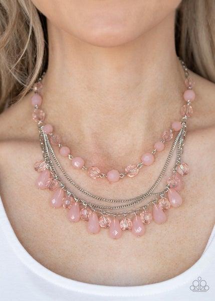 Awe-Inspiring Iridescence - Pink Necklace