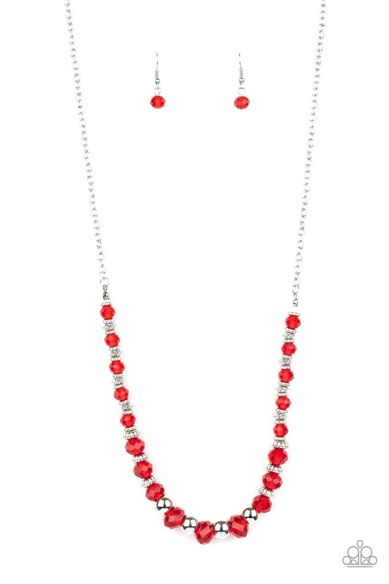 Stratosphere Sparkle - Red Necklace