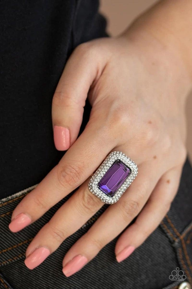 A Grand STATEMENT-MAKER - Purple Ring