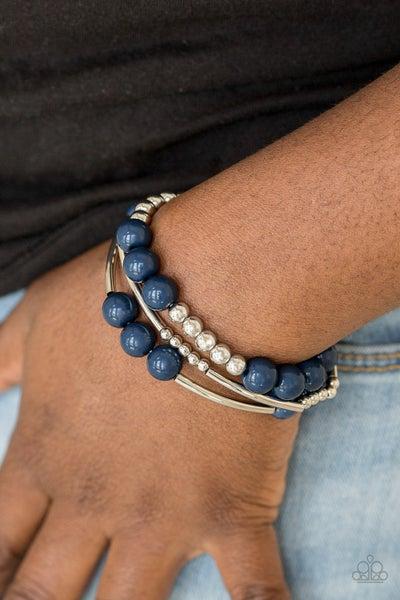 New Adventures - Blue Stretchy Bracelet
