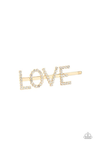 All You Need Is Love - Gold Hair Clip