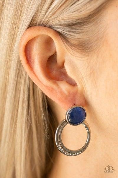 Glow Roll - Blue Earrings