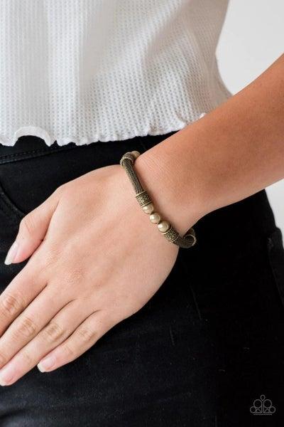 Talk Some Sensei - Brass Stretchy Bracelet