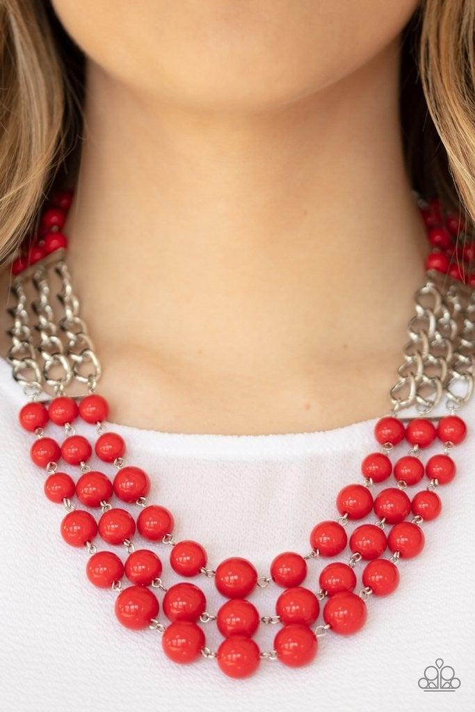 A La Vogue - Red Necklace