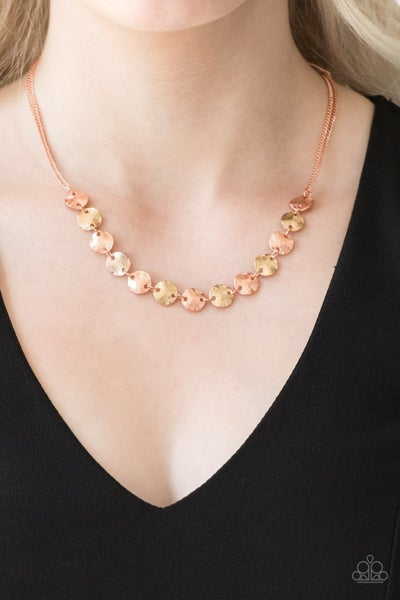 Simple Sheen - Copper Necklace