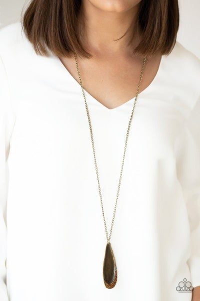 Metro Storm - Brass Necklace