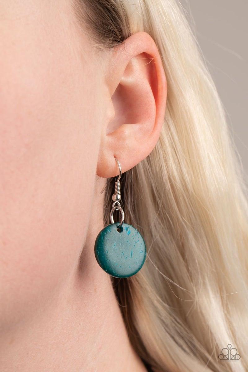 Barbados Bopper - Blue Wooden Necklace