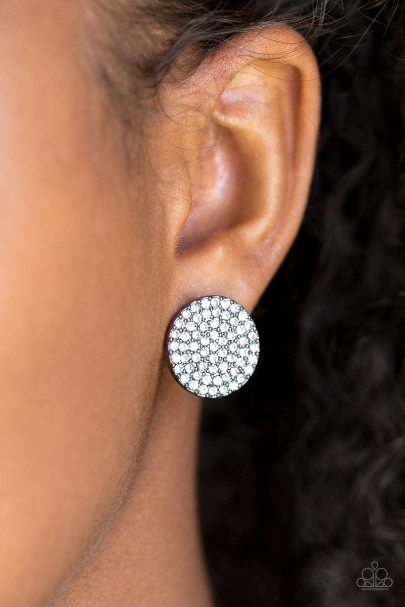 Radiant Ripples - Gunmetal Earrings
